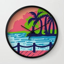 Beach paradise Wall Clock
