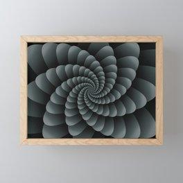 PPG Night Watch Pewter Green Nautical Swirl Digital Design - Nautilus Swirl Framed Mini Art Print