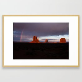Monuments After Rain Framed Art Print