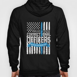 God Created Correctional Officers Patriotic Hoody