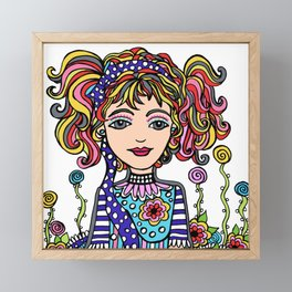 Style Girl - Dusty - Doodle Art Framed Mini Art Print
