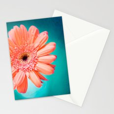 orange gerbera daisy Stationery Cards