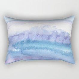 Blue Abstract Agate Rectangular Pillow