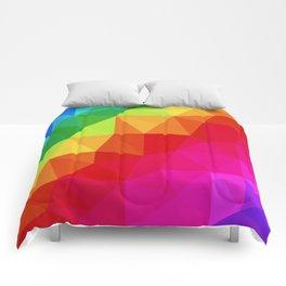 Rainbow Low Poly Comforters