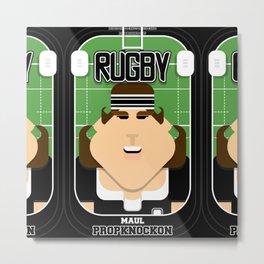Rugby Black - Maul Propknockon - June version Metal Print