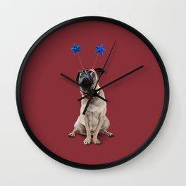 A Pug's Life (Colour) Wall Clock