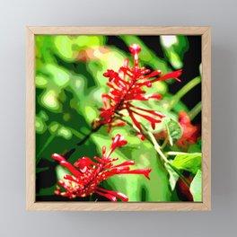 Red Jungle Blossom Framed Mini Art Print