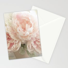 Shabby Chic Cottage Pastel Pink Peony Prints and Peony Home Decor Stationery Cards