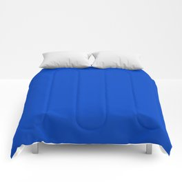 Blueberry Blue - Simple Solid Color All Over Print Comforters