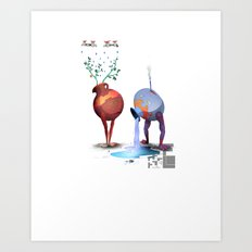 RS pottery Art Print