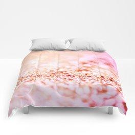 Pink shiny glitter - Sparkle Girly Valentine Backdrop Comforters