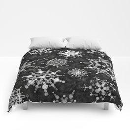 Gray Snowflakes Comforters