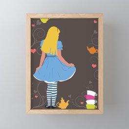 Alice in Wonderland tea party print Framed Mini Art Print