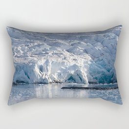 Ice art by nature on glacier and in ocean Rectangular Pillow