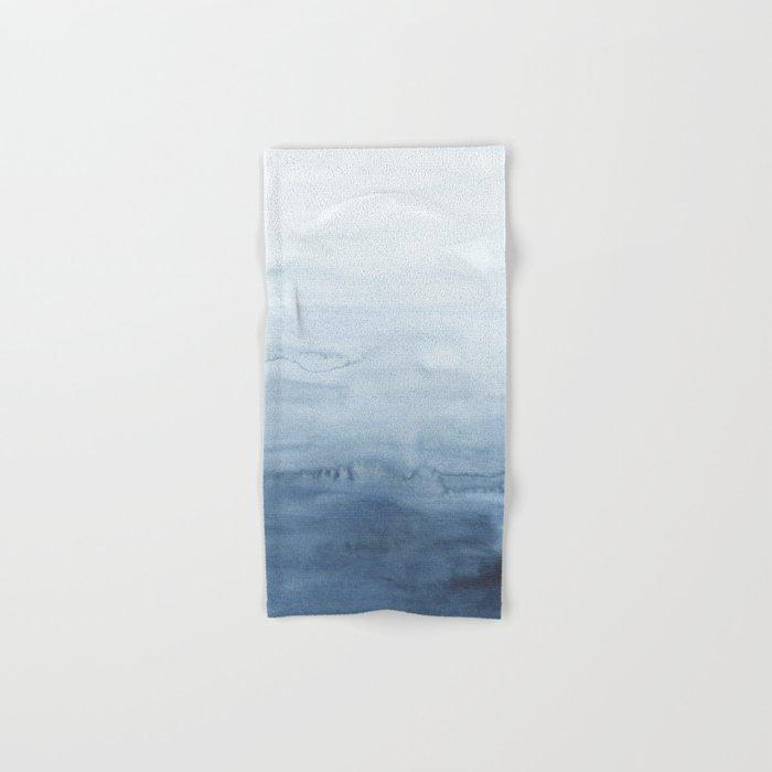 Indigo Abstract Painting | No. 5 Hand & Bath Towel