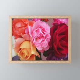 Carmen Miranda inspired roses - Floral perfection Framed Mini Art Print
