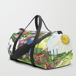 Farmer Fluffy at Harvest Time Duffle Bag