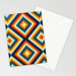 Colorful aztec diamonds pattern Stationery Cards