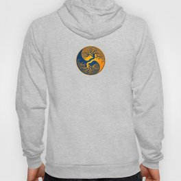 Blue and Yellow Tree of Life Yin Yang Hoody