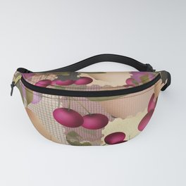 Old scraps of fabric with fruit . Fanny Pack