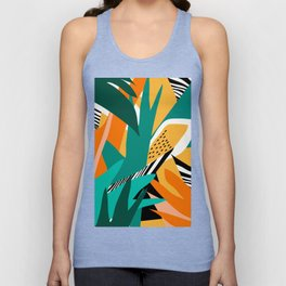 Jungle Abstract Unisex Tank Top