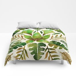 Tropical Symmetry – Olive Green Comforters