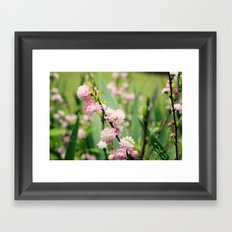 The Best Things in Life are Pink Framed Art Print