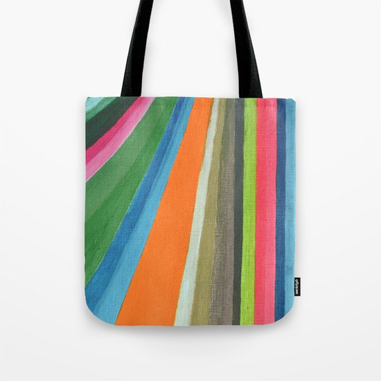 Transforming Vertical Stripes Tote Bag