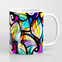 Colorful Abstract Stained Glass Design Coffee Mug