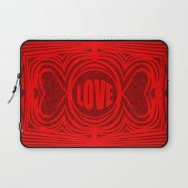 heart center1 red Laptop Sleeve