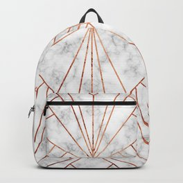 Art Deco Marble & Copper - Large Scale Backpack