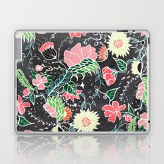 Pastel preppy hand drawn garden flowers chalkboard Laptop & iPad Skin
