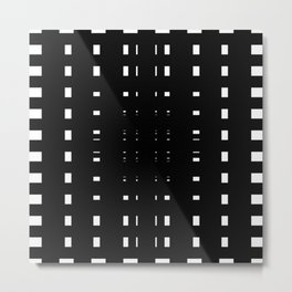 Perceive Depth In Black And White Metal Print