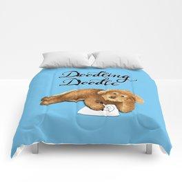Doodling Doodle (Blue) Comforters