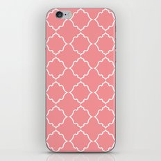 Moroccan White and Coral iPhone & iPod Skin
