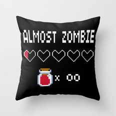 Almost Zombie Throw Pillow