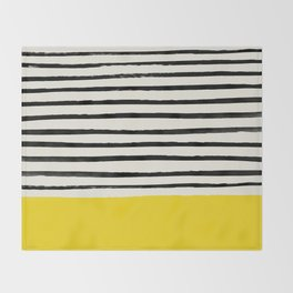Sunshine x Stripes Throw Blanket