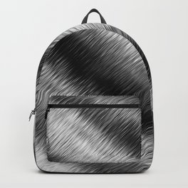 Black and White Hatched Ombre Backpack