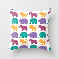 Fun at the Zoo: Pattern Throw Pillow