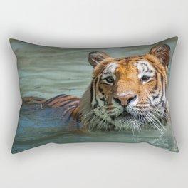 Cincinnati the Tiger in the Pool Rectangular Pillow