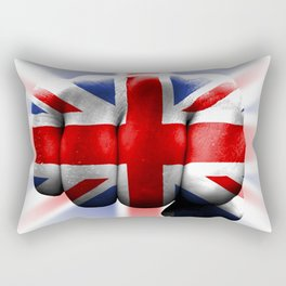 country flag of united kingdom great britain fist power war aggression Rectangular Pillow