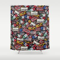 country Shower Curtains featuring country plates by Eduardo Doreni