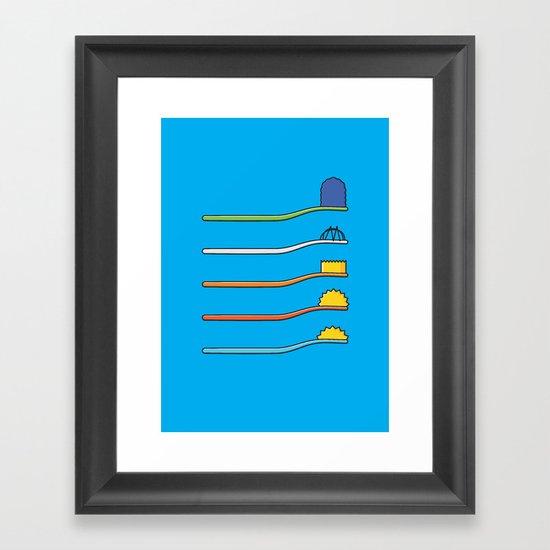 The Simpsodynes Framed Art Print