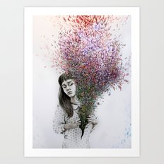 I tried to draw my soul but all I could think of was flowers Art Print