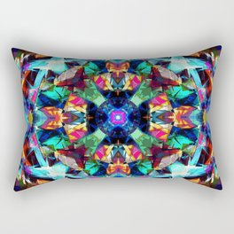 Colorful Geometric Abstract Rectangular Pillow