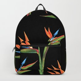 Bird of paradise flowers patten Backpack
