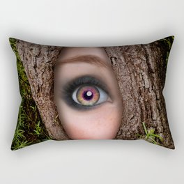 Beautiful Face trapped in a tree trunk Rectangular Pillow