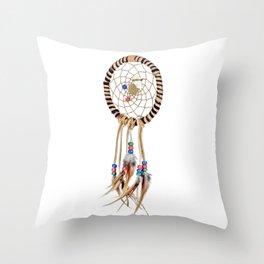 Spiritual Dreamcatcher Throw Pillow