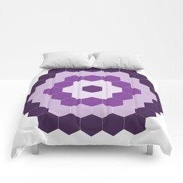 Purple Hexagon Honeycomb Comforters
