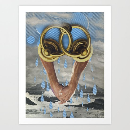 beach sex only works in movies Art Print